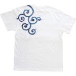 手描きTシャツのniko(ニコ) men's唐草柄Tシャツ 手描きで描いた唐草模様のTシャツ