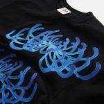 手描きTシャツのniko(ニコ) men's菊柄Tシャツ 手描きで描いた菊の花のTシャツ