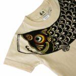 手描きTシャツのniko(ニコ) 鯉のぼり柄Tシャツ キッズサイズ ナチュラル アイボリー