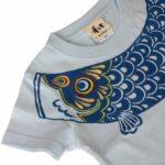 手描きTシャツのniko(ニコ) 鯉のぼり柄Tシャツ キッズサイズ ブルー