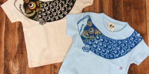 kids 鯉のぼり柄Tシャツ 手描きで描いたこいのぼりのTシャツ こどもの日