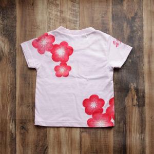 出産祝い梅柄子供のお名前入れTシャツのオーダー。