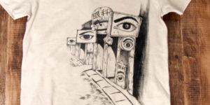過去の作品紹介 つげ義春 ねじ式Tシャツ。