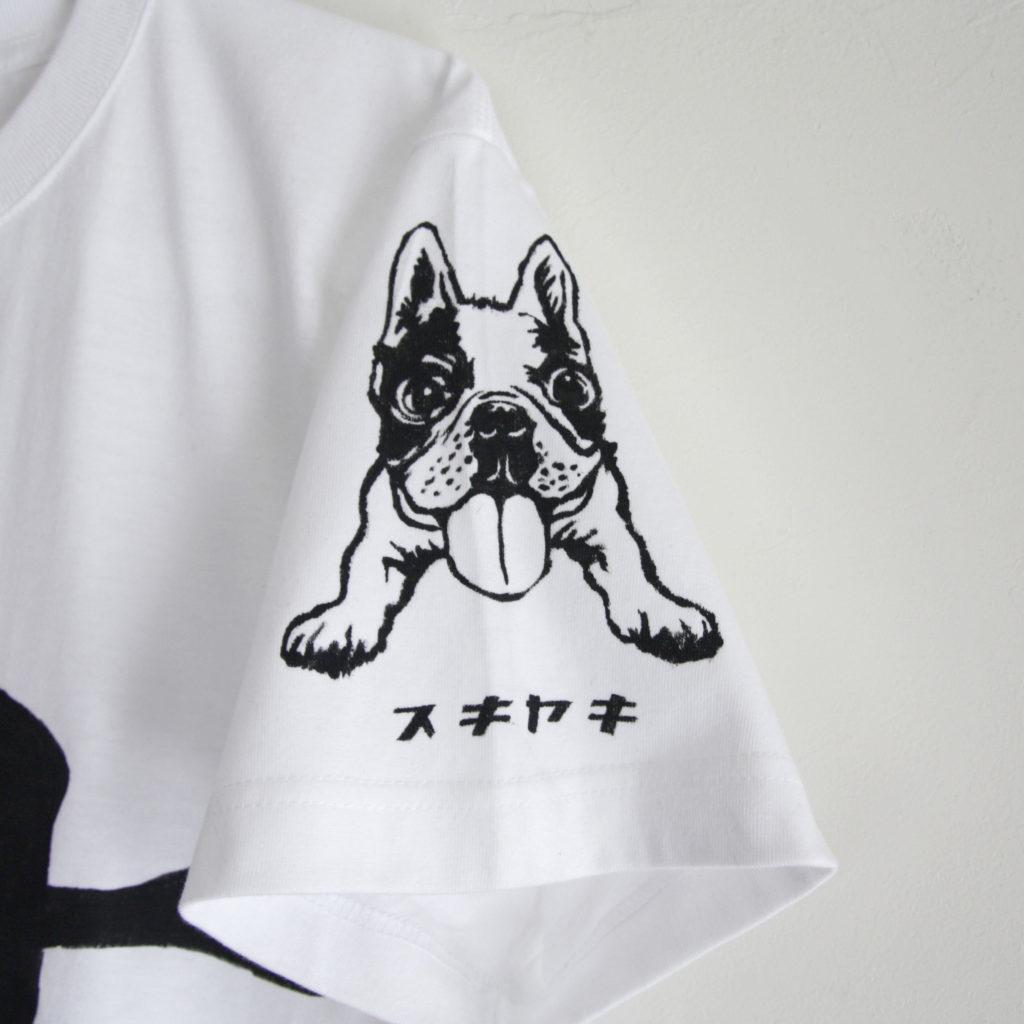 フレンチブルドッグの愛犬を似顔絵Tシャツオーダー