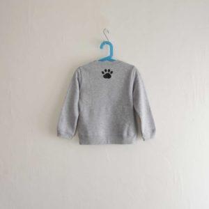 ニャンコのアメカジ風スウェットトレーナー グレー キッズサイズ 子供服