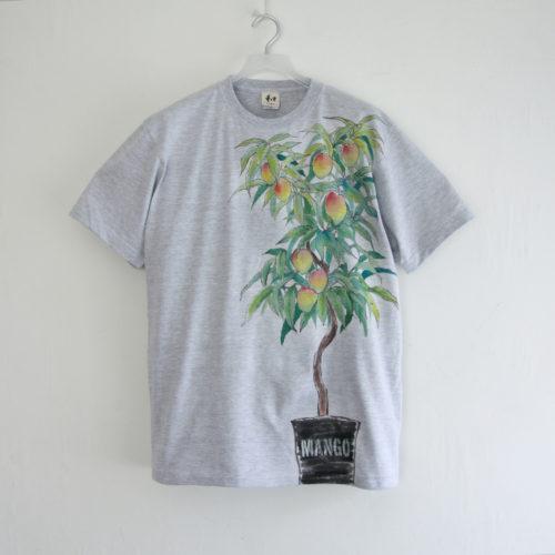 フルオーダー手描きTシャツマンゴーの木Tシャツ メンズ XL