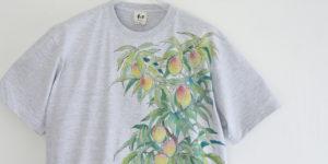 フルオーダー手描きTシャツマンゴーの木Tシャツ メンズ