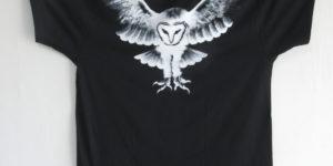 手描きTシャツ特注オーダーメンフクロウTシャツ 3XL