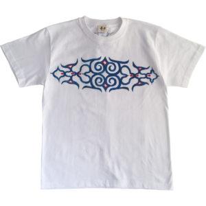 メンズアイヌ文様唐草とフクロウ柄手描きTシャツを追加しました。