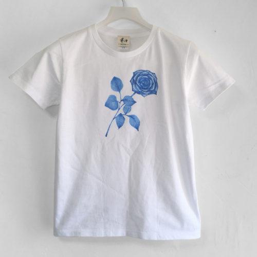 バラ一輪の手描きTシャツオーダー。