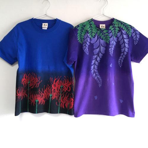 彼岸花と藤の花のTシャツオーダー