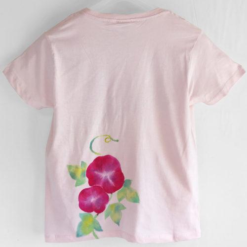 キッズサイズ朝顔柄Tシャツオーダー。