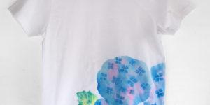 キッズサイズ紫陽花柄Tシャツオーダー。