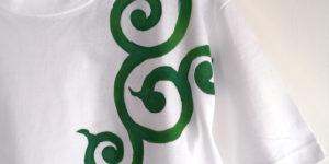 唐草柄Tシャツセミオーダー。