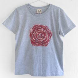 手書きバラ柄Tシャツ