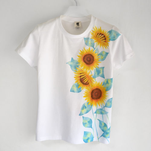 ひまわり柄Tシャツを5.6オンスのレギュラータイプのTシャツにリニューアルして再販しました。